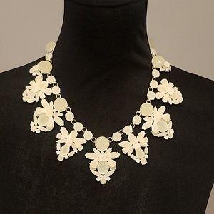 NWOT Jcrew Statement Chunky Necklace white Jewel